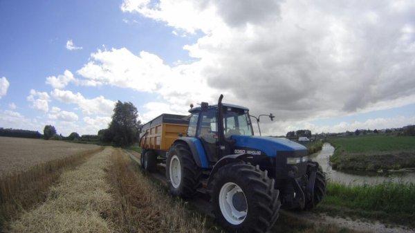 Transport de blé par les travaux agricoles grebert didier