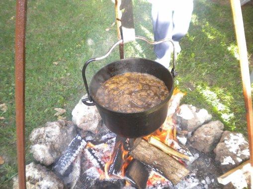 la chodron au feu de bois hummmmmmm