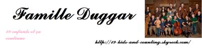 Nouvelles sur la famille Duggar.