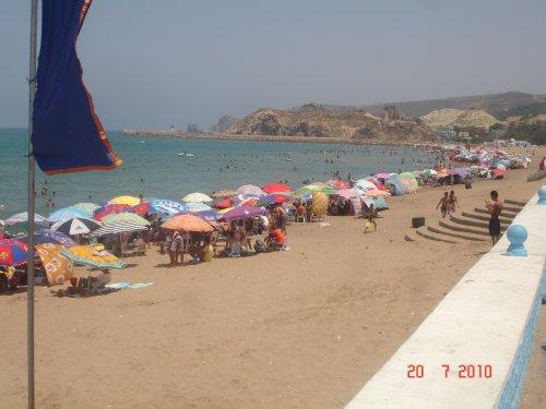 La grande plage de portsay(située à 110 km au nord-ouest de Tlemcen)