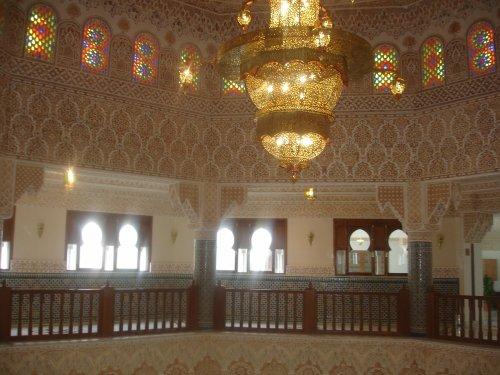 L'intérieur du palais de la culture