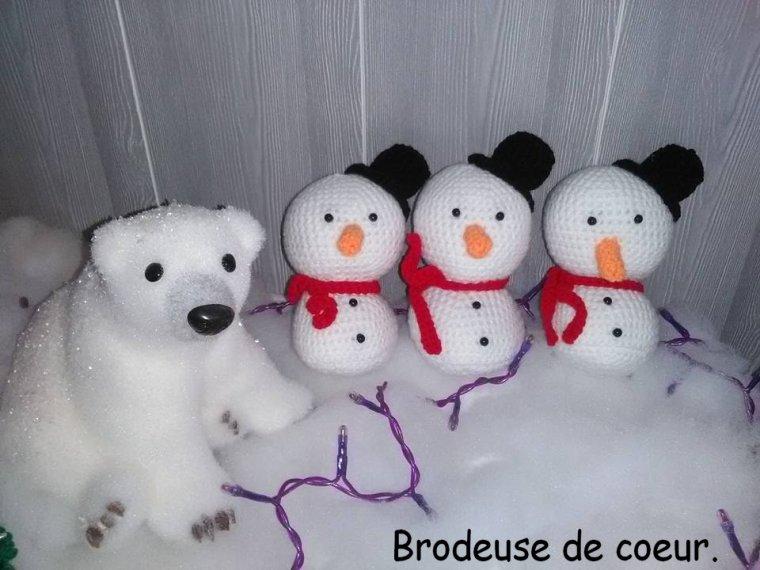 une commande de 3 bonhommes de neige