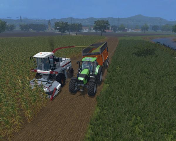 [Farming Simulator 15]  Ensilage avec le voisin