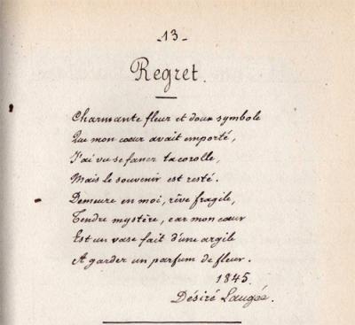 Poeme Regret Poeme Amour Et Chanson