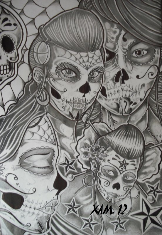 MEXICAN GIRLS SKULL