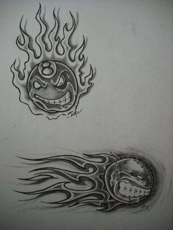 BALL  flaming
