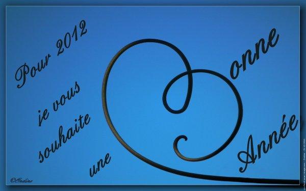"""""""   Meilleurs voeux a tous pour 2012  """""""