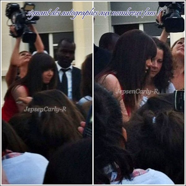 07/09/2012 - Carly se trouve à Paris pour la promotion de Kiss