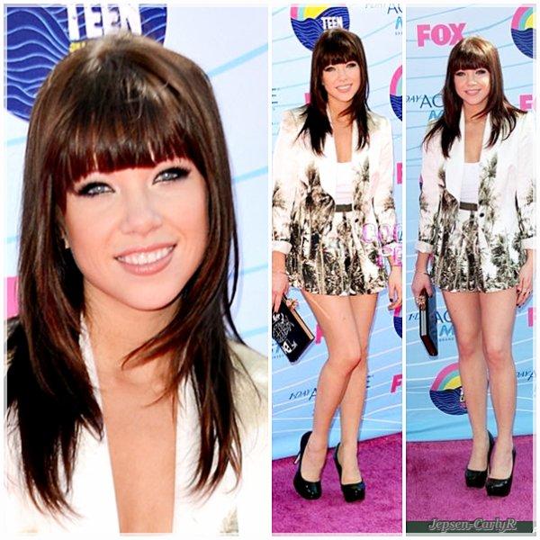 22/07/2012 - Carly était présente aux TCA's !