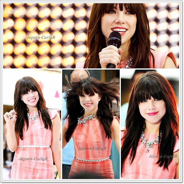 23/08/2012 - Carly était présente au Today Show avec Owl City pour performer Good Time & Call Me Maybe