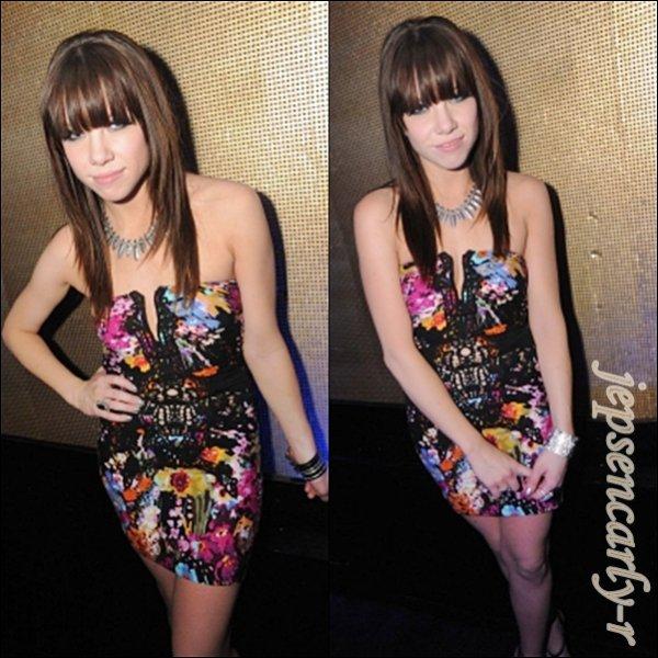 30/09/2012 - Carly s'est rendue après le concert dans une boite de nuit