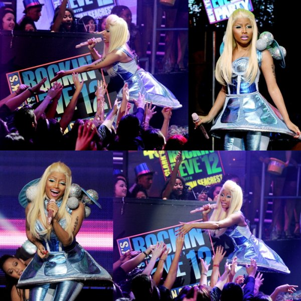 1.01.12 New/Vidéos Performance de nicki au reveillon de dick clark
