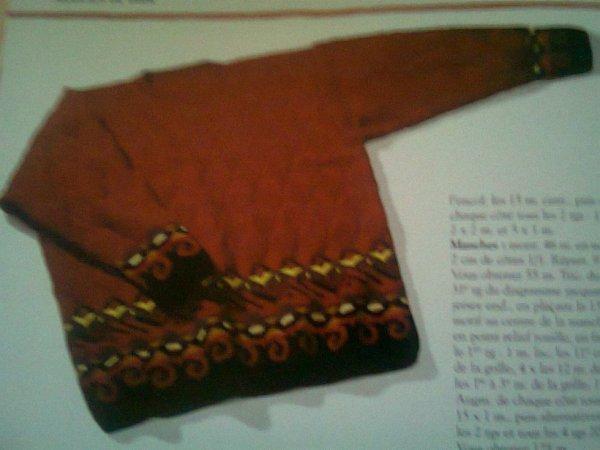 pull en coton de couleurs: en rouge ,bleu, blanc et vert