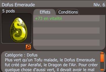 Drop d'un Dofus Emeraude