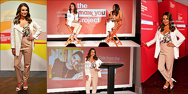 * '•-25/06/19-' : Lea était présente à l'événement « Pop-up The Changing Room » pour le projet Maxx You dans New York. Pas beaucoup de photos sont disponibles, ce qui est dommage. En tout cas Lea est ravissante. J'aime beaucoup sa tenue. Top pour moi ! *