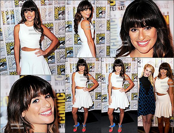 * 12/07/15 :  Lea  était au dernier jour du « Comic Con 2015 » avec le cast de la série Scream Queens, à San Diego. Les acteurs ont  répondu à des questions lors d'une interview. Lea est vraiment ravissante. Sa tenue est très jolie et j'adore son maquillage. Un Top.  *