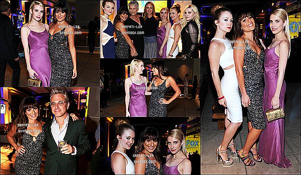 * 10/07/15 : Lea M. s'est rendue à l'événement organisé par la Fox « Fox Fanfare », qui se déroulait à San Diego. Lea était accompagnée d'Emma Roberts et d'autres membres du casting de Scream Queens. Lea est vraiment magnifique, cette robe lui va à ravir !  *