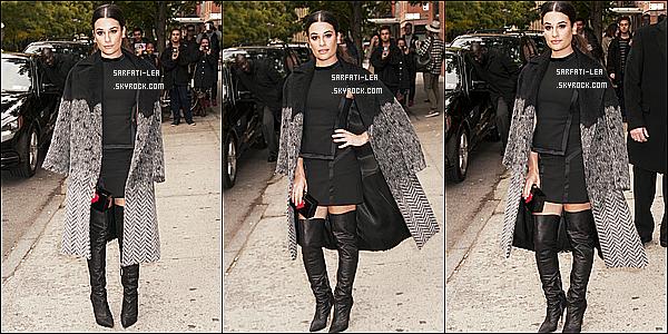 * 24/10/15 :  Lea Michele était présente à l'événement de « Entertainment Weekly » - qui avait lieu à New York. C'est super que Lea se remette à sortir, ça faisait un moment. J'aime bien la tenue qu'elle porte même si elle est sombre - Je lui donne donc un Top.  *