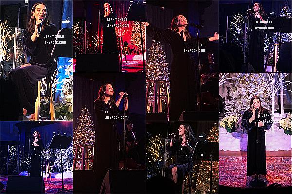 * '•-20/12/19-' : Lea M. a performé sur la scène de la salle de concert « New York Society For Ethical Culture » à New York. Lea Michele était vraiment ravissante. Sa coiffure est jolie je trouve. J'aime beaucoup aussi la tenue qu'elle porte. Je lui mets donc un Top. *