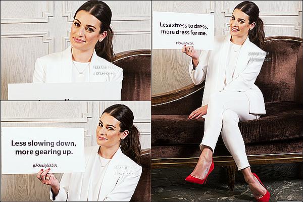 *  Voici des photos promotionnelles de Lea M. pour la campagne « #ActuallySheCan »!  *