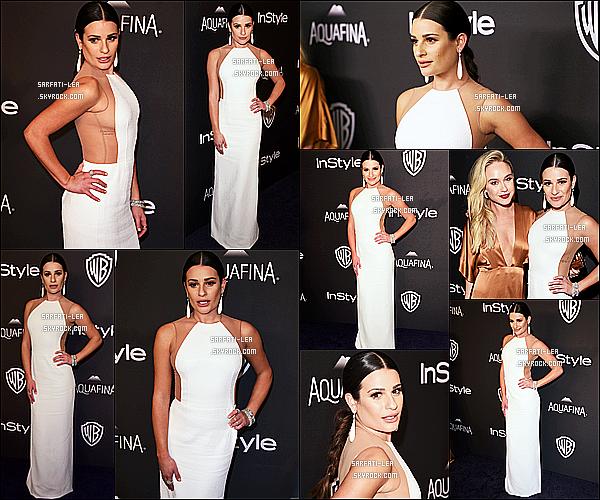 * 10/01/16 :  Lea Michele a assisté à l'after party des  « Golden Globe Awards » - qui avaient lieu à Beverly Hills. Lea était sublime. Elle a posé avec son amie Becca Tobin. Cette robe blanche est splendide et lui va à merveille je trouve - C'est un Top pour moi !  *