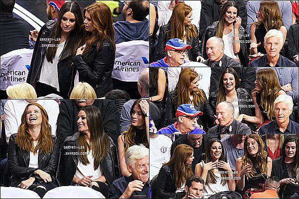 * 29/02/16 :  Lea a assisté à un match de basket des Clippers - qui avait lieu dans le Staples Center de Los Angeles. Lea était accompagnée de Joanna Garcia et Kate Gordon. Lea est belle et très souriante. On ne voit pas tellement sa tenue mais elle à l'air superbe.  *