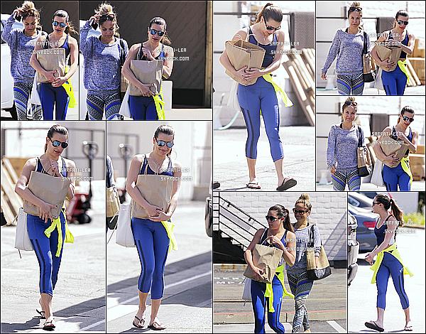 * 27/04/16 : Lea M. a été aperçue alors qu'elle quittait une salle de gym avec une amie, qui se situe à Brentwood. Lea est toute belle. J'aime beaucoup la tenue de sport qu'elle porte même si c'est assez simple. Ses lunettes de soleil sont superbes aussi. Donc Top.  *