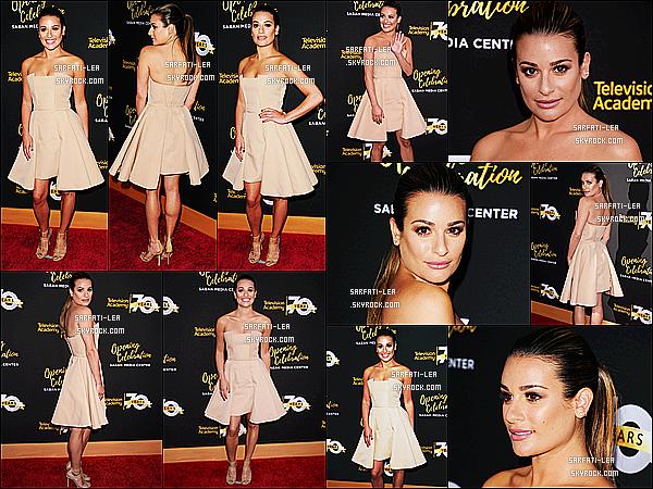 * 02/06/16 : Lea était présente lors du 70ème gala d'anniversaire de l'Académie Télévision - dans Los Angeles. Lea est vraiment magnifique. Sa coiffure et son maquillage sont superbes je trouve. J'aime énormément la robe qu'elle porte. C'est un Top pour moi  *