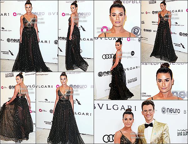 * 26/02/17 : Lea était présente au - « 25th Annual Elton John AIDS Foundation's Oscar Viewing Party » . Lea a aussi été vue quittant l'événement. Lea est tout simplement magnifique. J'aime bien sa coiffure et son maquillage. Sa robe est très jolie. Top !  *