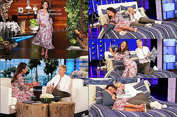 * 16/03/17 : La ravissante Lea Michele était invité sur le plateau de l'émission, « The Ellen DeGeneres Show ». Lea a été interviewé par Ellen à propos de son nouvel album. Elle avait l'air de bien s'amuser. La robe qu'elle porte est très jolie. Je lui mets un Top  *