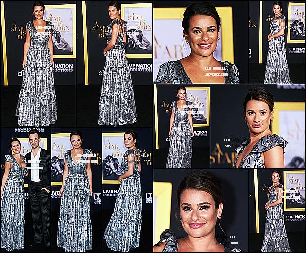 * 24/09/18 :    Lea Michele a assisté lors de l'avant première du film « A Star Is Born » qui avait lieu dans Los Angeles. Lea est vraiment magnifique. J'aime beaucoup sa mise en beauté. Je suis fan de la robe qu'elle porte, elle lui va à merveille. C'est donc un Top pour moi.  *