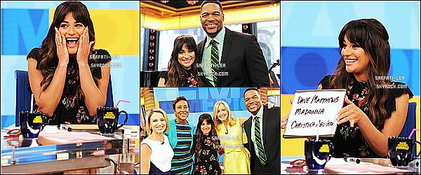 * 28/04/17 : Lea M. a participé, à l'émission de télévision « Good Morning America » - se trouvant à New York. Lea a performé sur sa nouvelle chanson Anything's Possible. Lea est magnifique. Je suis fan de la tenue qu'elle porte - C'est donc un Top pour moi !  *