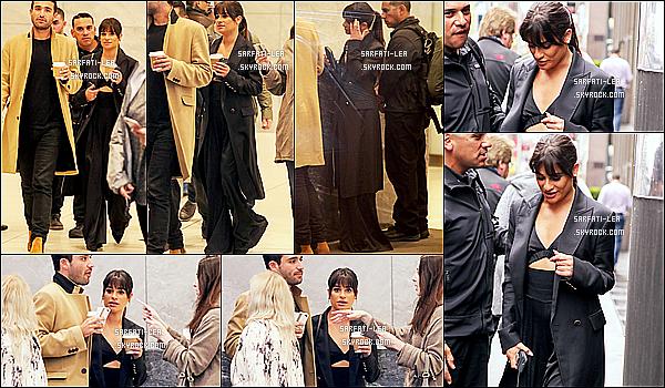 * 26/04/17 : Lea M. a été vue quittant une cafétéria pour prendre un café avec ses amis - se trouvant à New York. Plus tard, Lea était invité dans les studios de la radio SiriusXM toujours à New York. Lea est ravissante. J'aime beaucoup sa tenue. Un Top pour moi  *