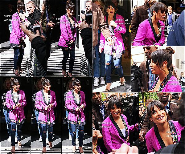 * 22/04/17 : Lea M. a été aperçue lorsqu'elle quittait les studios de la radio « BBC » qui se trouvent dans Londres. Lea est encore une fois en tournée promotionnelle. Elle est très jolie et toute souriante. J'aime beaucoup la tenue qu'elle porte - Donc Top pour moi !  *