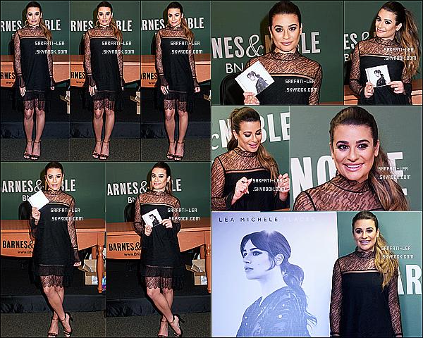 * 28/04/17 : Lea M. était présente lors d'une séance de dédicaces pour son album « Places » - au Barnes & Noble. Lea Michele était vraiment ravissante. J'aime beaucoup sa coiffure et son maquillage. La tenue qu'elle porte est superbe. C'est donc un Top pour moi  *