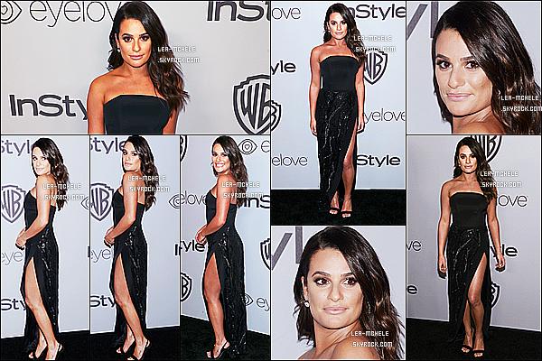 * 07/01/18 :    Lea était présente, à l'after party des « Warner Bros Golden Globes » - qui avait lieu dans Los Angeles. Lea est tout simplement magnifique. Je suis totalement fan de la robe qu'elle porte, elle lui va à ravir. Sa mise en beauté est jolie aussi. C'est un beau Top  *