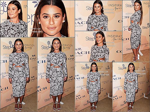 * 02/06/17 : Lea M. était présente lors de l'événement « Inspiration Awards » - qui avait lieu dans Los Angeles. Lea est vraiment ravissante. J'aime bien sa coiffure et son maquillage naturel. La robe qu'elle porte est très jolie et lui va bien, c'est un Top pour moi  *