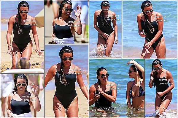 * 30/06/17 : Lea Michele a été aperçue alors qu'elle faisait du paddle sur une plage de Maui, se trouvant à Hawaii. Plus tard, Lea M. a été vue toujours sur une plage, prenant du bon temps avec ses amies à Hawaii. J'aime ses deux maillots de bain. Tops pour moi  *