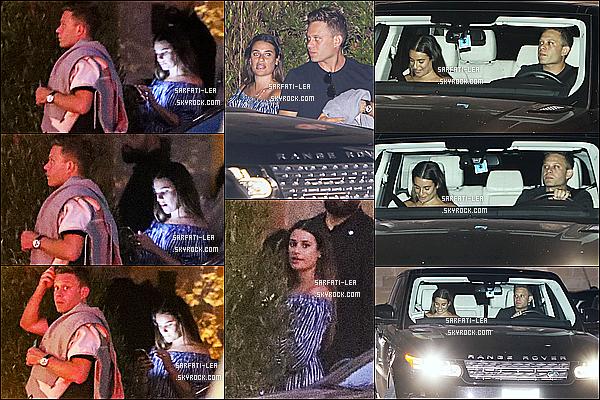 * 31/08/17 : Lea Michele a été repérée lorsqu'elle quittait le restaurant « Nobu » avec Zandy Reich, à Los Angeles. Lea a donc fêté son anniversaire au restaurant. C'est dommage que les photos ne soient pas de bonne qualité. Lea est belle. J'aime sa tenue, un Top  *