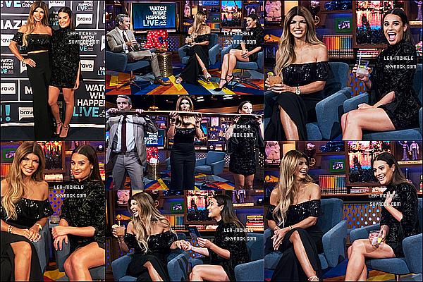 * 11/10/17 :    Lea était invitée, sur le plateau de l'émission Watch What Happens Live - avec Andy Cohen à New York. Plus tard, Lea a été vue quittant les studios de cette même émission. Lea est sublime. La robe qu'elle porte est très jolie, elle lui va à merveille. Donc Top.  *