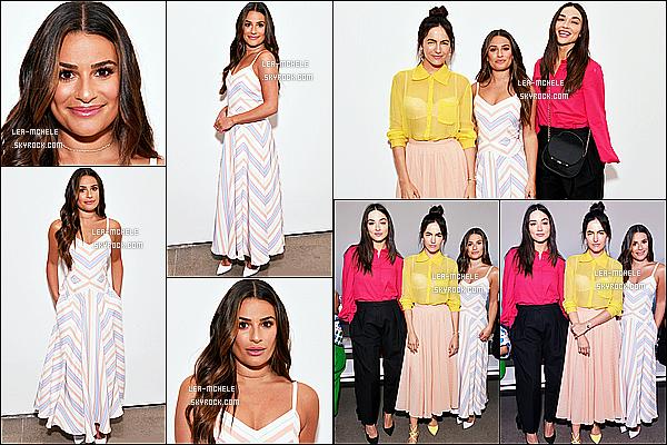 * 06/09/18 :    Lea Michele a assisté à l'événement « Noon By Noor Fashion Show » - qui se déroulait dans New York. Lea Michele était toute ravissante. Je suis fan de sa coiffure, et de son maquillage. La robe qu'elle porte est très jolie aussi - C'est un beau Top pour moi !  *
