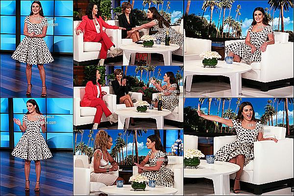 * 29/08/18 :    Lea était invitée sur le plateau de l'émission de télé « The Ellen Degeneres Show » - dans Los Angeles. Lea M.  à l'air de bien s'amuser. Elle est ravissante et toute souriante. J'aime beaucoup la robe qu'elle porte, elle lui va à ravir. C'est donc un Top pour moi.  *