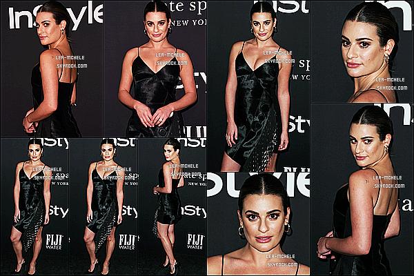 * 22/10/18 :    Lea Michele a assisté, lors de l'événement « Annual InStyle Awards » - au Getty Center à Los Angeles. Lea était vraiment ravissante. Je suis fan de sa mise en beauté. La robe qu'elle porte est jolie aussi, et lui va bien je trouve - C'est donc un Top pour moi !  *