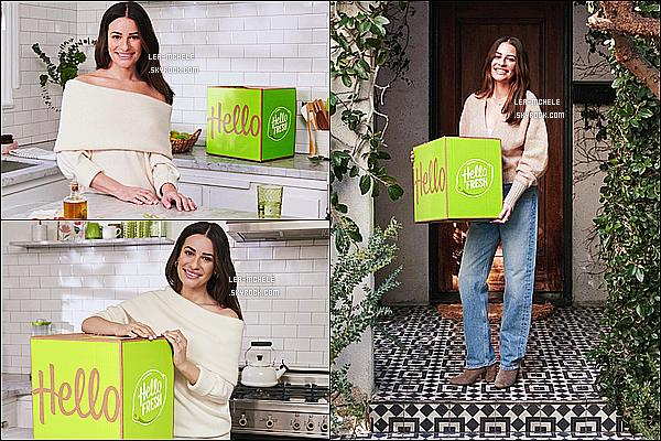 * * '-Photoshoot ●-  Découvrez un nouveau shoot de Lea Michele - pour la marque « HelloFresh » ! *