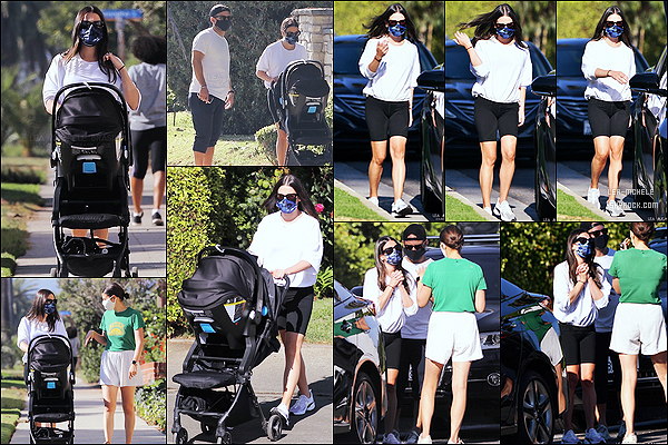 * '•-30/10/20 ─-' Lea Michele a été repérée alors qu'elle se promenait avec son mari et son fils dans les rues de Los Angeles. La veille d'Halloween, Lea a été vue promenant son fils Ever Leo et avec son mari Zandy Reich. Elle porte une tenue basique. Un petit Top *