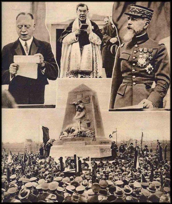 Inauguration du monument de Steenstraete