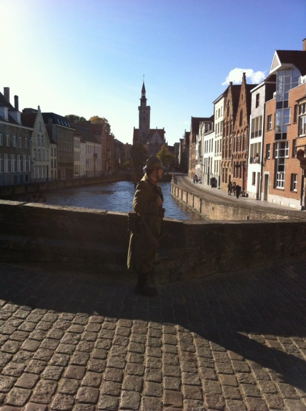 Une vue de la superbe ville de Brugge