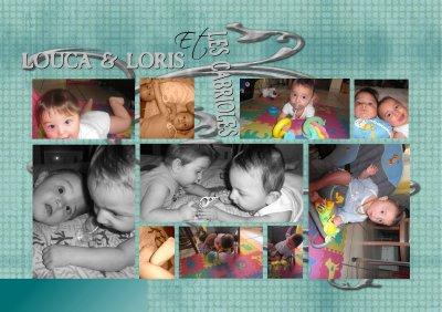 Loris et Louca 8 mois