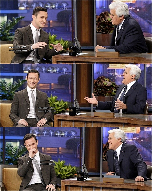 - 21NOVEMBRE2012 Joe était au The Tonight Show avec Jay Leno à Burbank en en Californie ! -