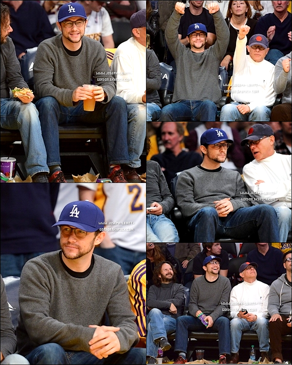 - 06JANVIER2013 Joe avec son père Dennis au match des Lakers/Denver à Los Angeles !-